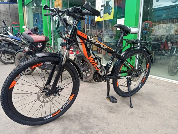 Mua xe đạp địa hình - CÓ VIDEO - chính hãng hãng wil der nes -  24ich cho người 1m4 trở lên - xe đạp - tặng ĐÈN + chắn bùn - XE ĐẠP địa hình người lớn -