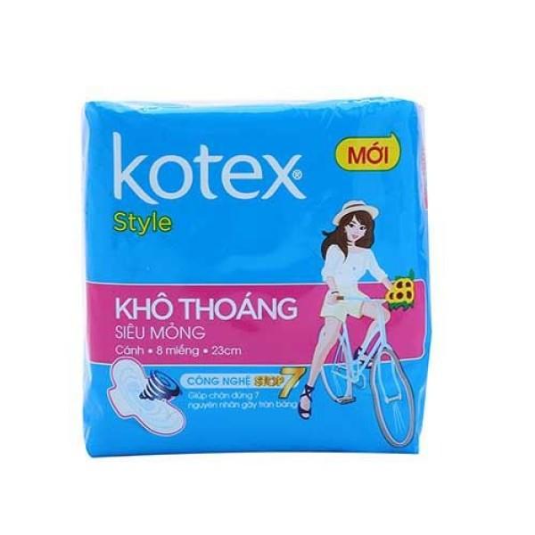 [Thu thập mã giảm thêm 30%] Băng vệ sinh Kotex Style lưới siêu thắm siêu mỏng cánh( gói 8 miếng ) giá rẻ