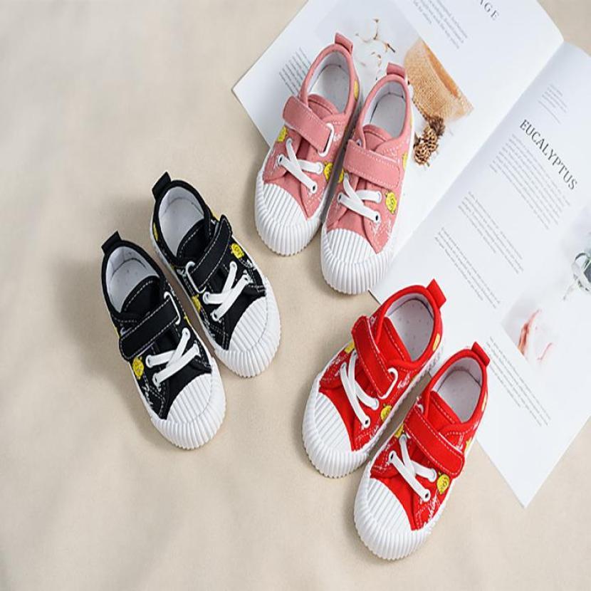 Giày thể thao cho bé trai và bé gái có quai dán - màu đen - vải mềm giá rẻ