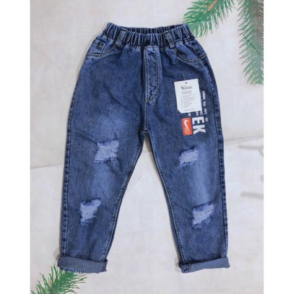 Quần bò jeans rách gối phong cách Hàn Quốc cho bé trai và bé gái