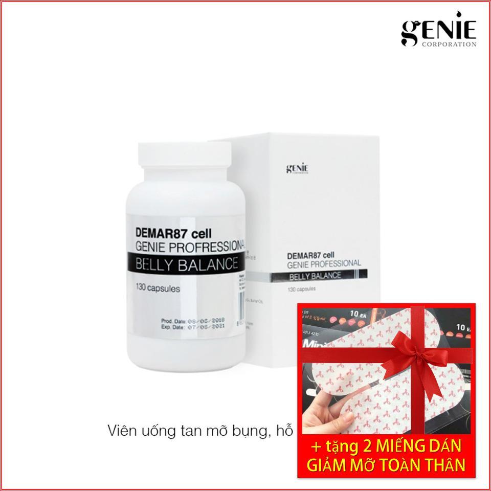 Viên Uống Hủy Mỡ Vùng Bụng Demar87 Belly Balance 130 Viên Genie