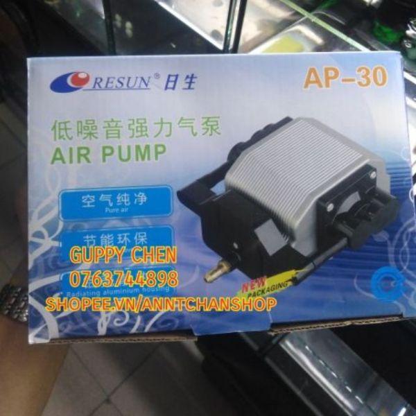 Máy sủi oxi 16w AP-30 siêu êm cho hồ cá - tặng kèm dây oxi và sủi