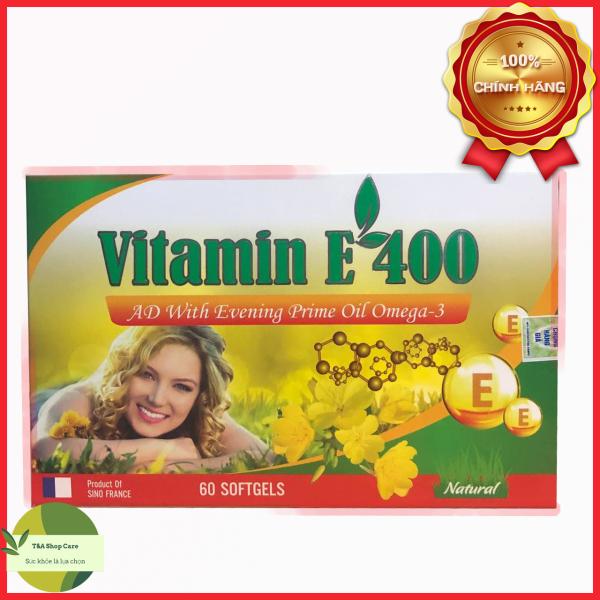 Vitamin E 400 của Pháp Sino France giúp bổ sung collagen chống lão hóa hộp 60 viên nhập khẩu