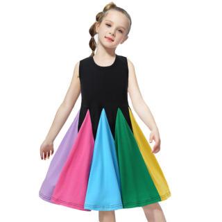 NNJXD Giá Rẻ Giá Trang Phục Bé Gái Mùa Hè Mới 2021 Ưa Thích Cho Bé Gái Váy Cầu Vồng Váy Công Chúa Đầm Bé Gái Mùa Hè Cho Trẻ Em Không Tay Cho Bé Gái Giảm Giá