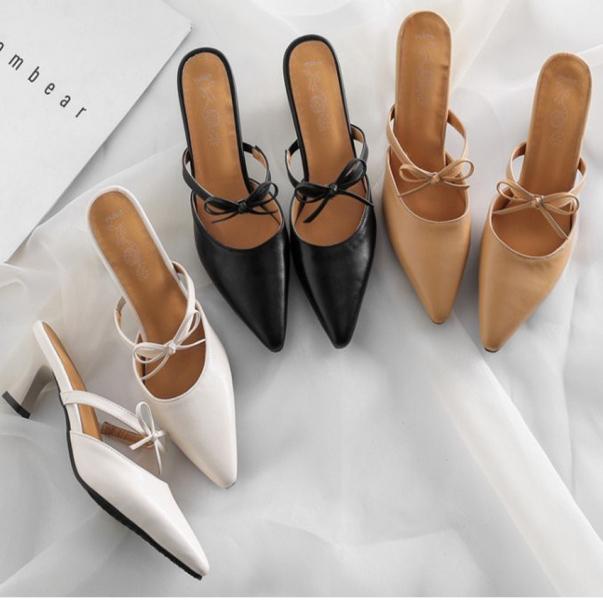 Giày cao gót 7cm nữ/ Xăng đan cao gót nữ kiểu dáng Hàn Quốc giá rẻ