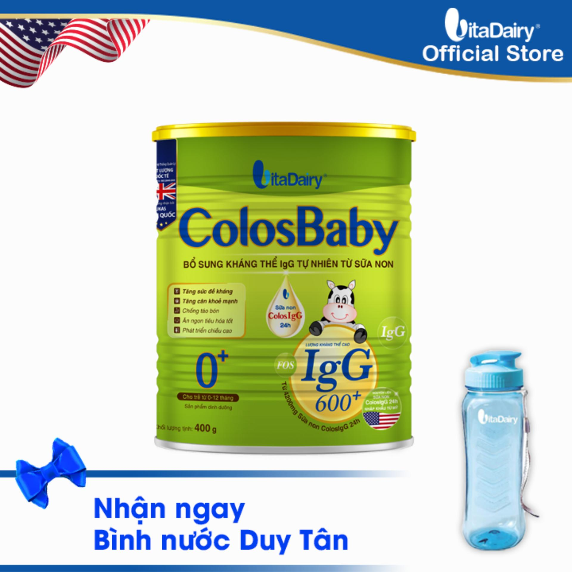 Sữa non COLOSBABY 600 IgG 0+ 400G