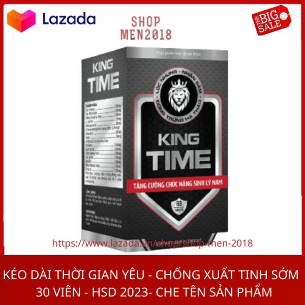 Viên uống Bổ Thận Nam KING TIME tăng cường sinh lý nam, bổ thận, tráng dương - Hộp 30 viên HSD 2023 thành phần thảo dược giá rẻ