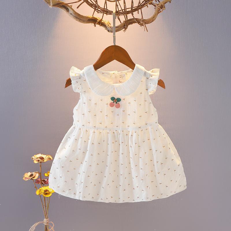 Bé Đầm Trang Phục Mùa Hè Trẻ Sơ Sinh Và Trẻ Nhỏ Váy Công Chúa 100% Cô-tông 0-1-1-2-3 Tuổi Bé Gái Váy Trẻ Em Mùa Hè Quần Áo 4