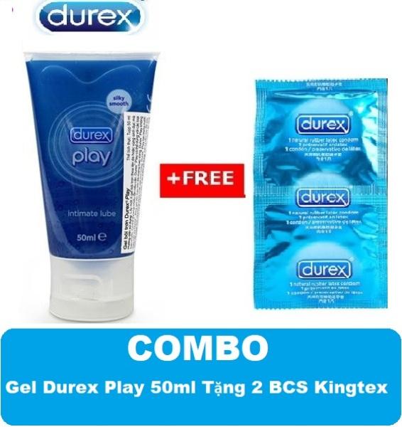 COMBO 1 Gel Bôi Trơn Durex Play Tặng 2 Chiếc Bao Cao Su Durex Kingtex - CHE TÊN SP KHI GIAO HÀNG