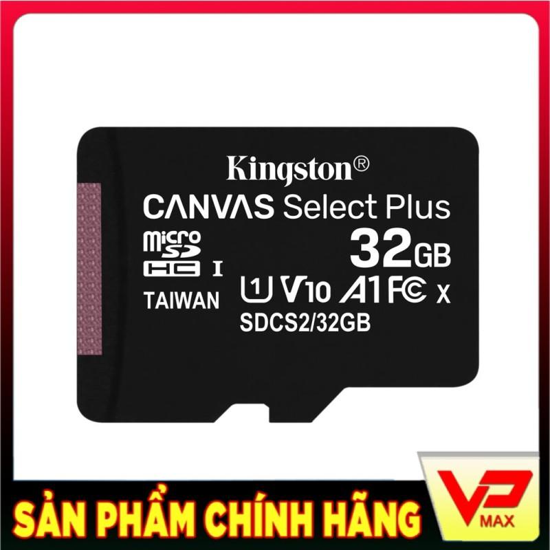 [BH 5 năm] Thẻ nhớ microSDHC Kingston Canvas Select Plus 32GB tốc độ cao 100MB/s - Không Adapter - vpmax