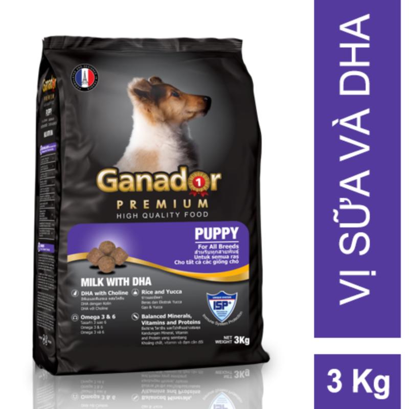 Thức ăn cho chó con Ganador vị sữa & DHA Puppy Milk with DHA 3kg