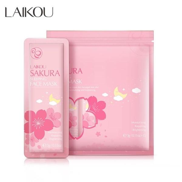 Bịch 15 Miếng Mặt Nạ Ngủ Hoa Anh Đào Sakura Laikou