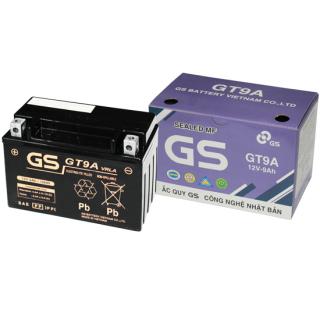 Bình Ắc Quy Khô GS GT9A (12V-9Ah), Bình ắc quy xe máy, acquy xe máy, bình ac quy, bình acquy, acquy 12v, bình ắc quy khô xe máy, acquy gs, ắc quy gs - BÌNH MF GT9A (12V-9AH) Mã SP GT9A dành cho xe máy, xe tay ga atila victoria thumbnail