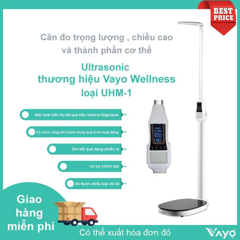Máy phân tích thành phần cơ thể và đo chiều cao Ultrasonic thương hiệu Vayo Wellness loại UHM-1 cao cấp