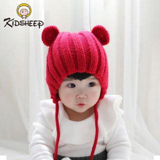Kidsheep mũ len cho bé nón len cho bé Mũ len dệt kim kiểu dáng dễ thương dành cho bé từ 5 đến 36 tháng tuổi phù hợp mang trong mùa đông