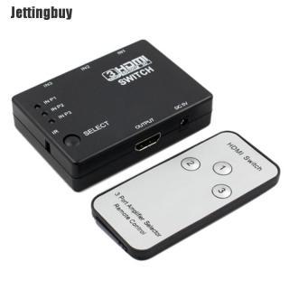 Jettingbuy Bộ Chia Cổng HDMI 3 Hoặc 5 Cổng Hub Bộ Chuyển Đổi Bộ Chọn + Điều Khiển Từ Xa 1080P Dành Cho Máy Tính HDTV thumbnail