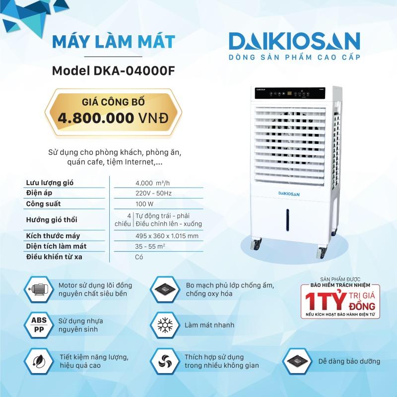 Quạt điều hòa (Quạt hơi nước) Daikio DKA-04000F
