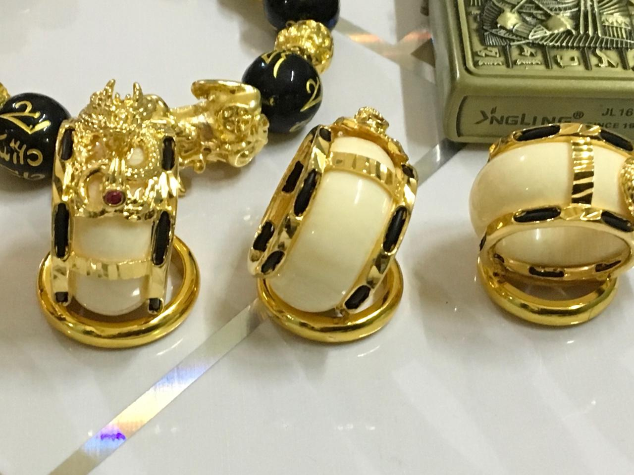 Nhẫn Rồng Ngà Vàng (Xi Vàng) Cao Cấp