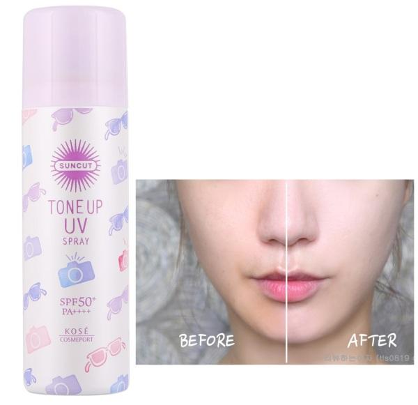 Xịt chống nắng nâng tông da KOSE Tone Up Spray SPF50+/PA++++ 60g - Nhật Bản