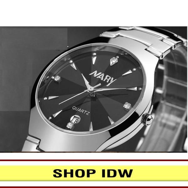 Nơi bán [Có video quay thật] Đồng hồ nam nữ dây thép không rỉ cao cấp Nary IDW 2561 (Nhiều màu lựa chọn)