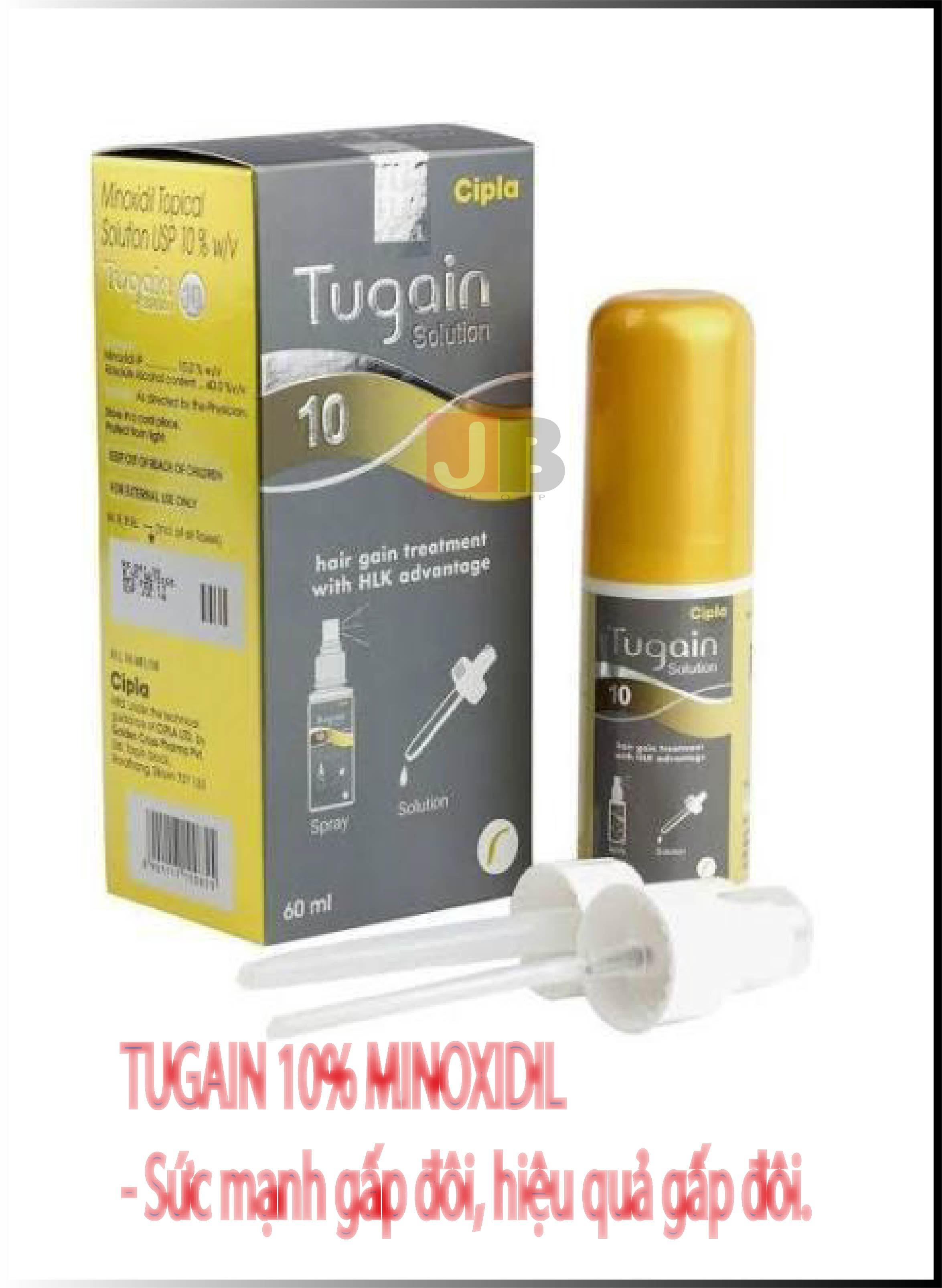 Thuốc mọc râu tóc Minoxidil 10% Tugain Cipla tốt nhất