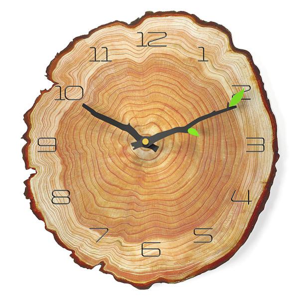 Nơi bán Đồng hồ treo tường 12 inch phòng khách im lặng vòng hàng năm đồng hồ thạch anh đồng hồ vân gỗ