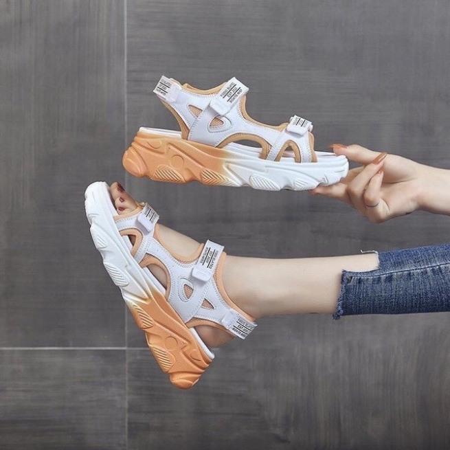 giày dép quai hậu nữ (3 màu)phối màu kiểu tàn phai rất lạ mắt giá rẻ