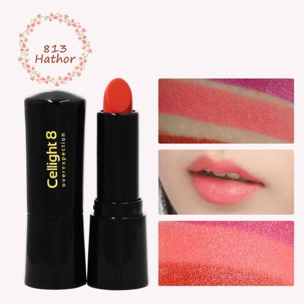 Son môi mini thiên nhiên không chì Cellight 8 Eco Lipstick - 813 - Hathor - Hồng Cam - (2g) giá rẻ