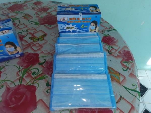Combo 5 hộp (250 cái) khẩu trang 4 lớp kháng khuẩn Nam Anh