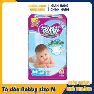 Tã dán Bobby siêu thấm size M 48 và 76 miếng thumbnail
