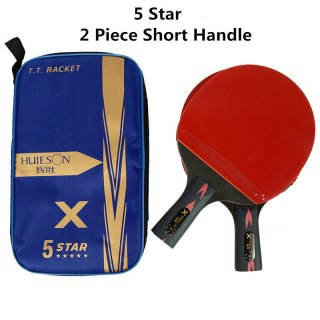 HUIESON 5 6 Star 2Pcs New Upgraded Carbon Table Tennis Racket Set Super Powerful Ping Pong Racket Bat for Adult Club Training thumbnail