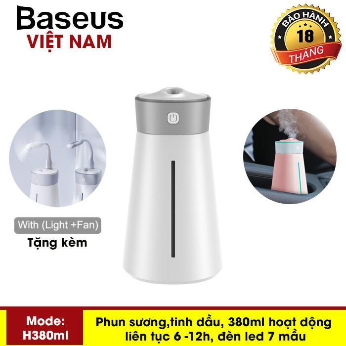 Máy phun sương, khuếch tán tinh dầu đa năng tạo độ ẩm chăm sóc da thương hiệu cao cấp Baseus dùng trong phòng ngủ, văn phòng làm việc và trên ô tô