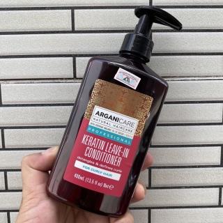 Siêu rẻ Chính hãng Kem xả khô tạo kiểu tóc ARGANICARE Keratin LEAVE-IN Conditioner 400ml thumbnail