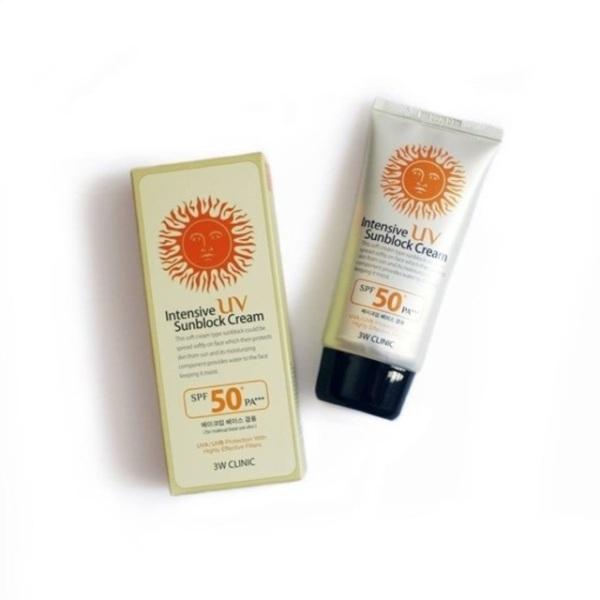 Kem chống nắng 3w clinic intensive uv sunblock cream spf 50 pa+++ - kem chống nắng cam kết sản phẩm đúng mô tả chất lượng đảm bảo an toàn đến sức khỏe người sử dụng