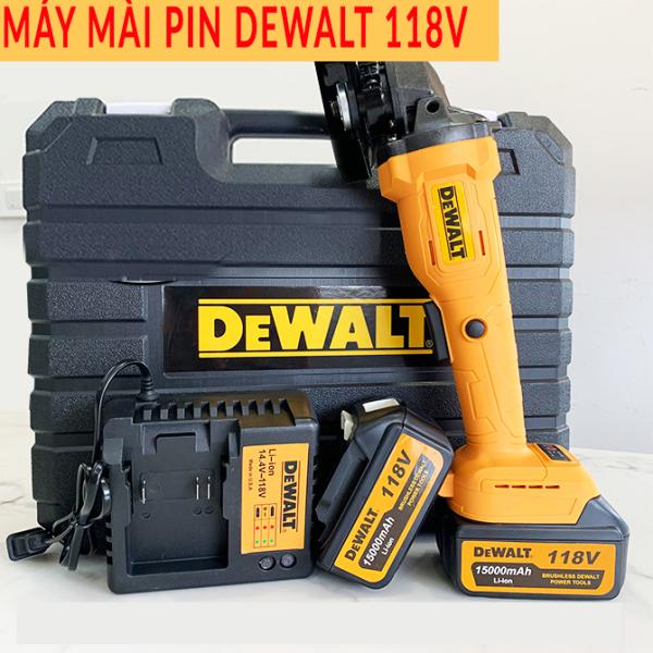Máy mài pin DEWALT 118V - Mô tờ từ không chổi than - Máy cắt sắt dùng Pin 118V - Pin 10 CELL - Mài, cắt, đánh bóng, chà nhám