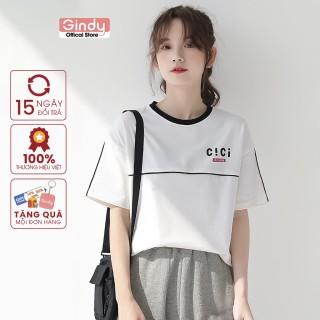 [ FULL SIZE + HÌNH THẬT ] Áo thun phông nữ tay lỡ GINDY CICI form vừa phong cách Unisex thời trang năng động A6172 thumbnail