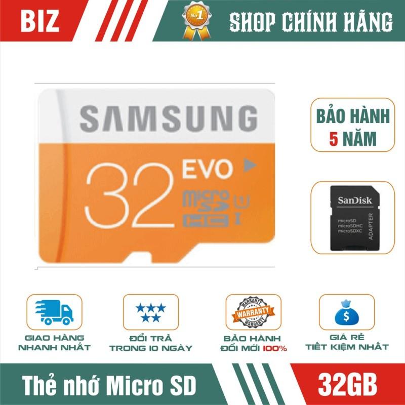 [Nhập LZDEL51 giảm 10% tối đa 200k cho đơn 99k]  Thẻ nhớ Micro Sd Samsung 32Gb Evo Plus- bảo hành 5 năm!