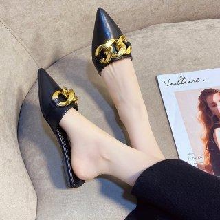 Sục đính nơ xích thời trang siêu đẹp đi êm chân, giày sục giá rẻ - Citashoes thumbnail