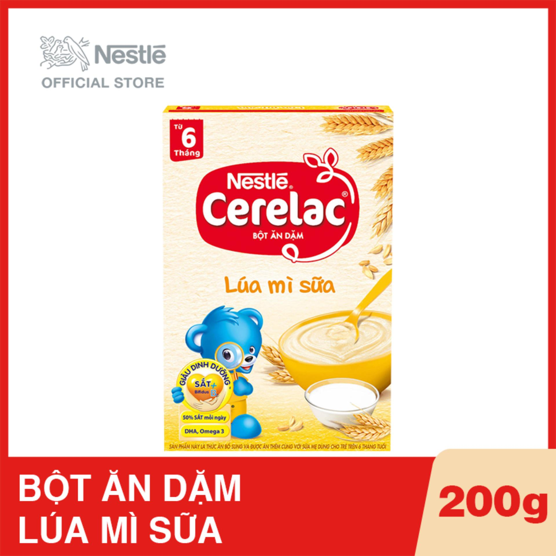 Hộp bột ăn dặm Nestlé CERELAC Lúa mì sữa - 200g