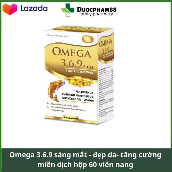 Dầu cá Omega 3.6.9 sáng mắt , đẹp da , tăng sức đề kháng hệ tim mạch hộp 60 viên nang cao cấp