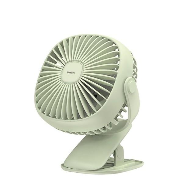 🌟CHÍNH HÃNG🌟 Quạt mini, Quạt tích điện mini để bàn có đèn, Quạt kẹp bàn - Baseus Box clamping Fan - PIN 2000 MAH CHÍNH HÃNG