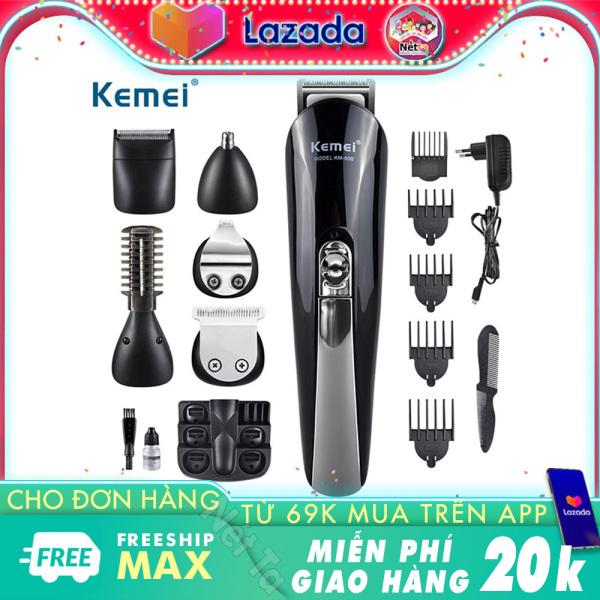 Tông đơ tạo kiểu tóc đa chức năng 6in1 Kemei KM-600 Hãng phân phối chính thức