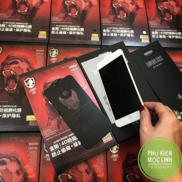 [Nhập ELMAY21 giảm 10% tối đa 200k đơn từ 99k]SIÊU KÍNH CƯỜNG LỰC KING KONG CHỐNG NHÌN TRỘM IPHONE XS MAX X XS 8plus 7plus 8 7 6splus 6plus 6s 6hiệu WK