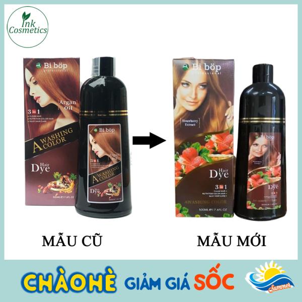 Dầu Gội Phủ Bạc Màu Nâu BiBop Collagen Nhật Bản (500ml) Không Cần Nhuộm Tóc cao cấp
