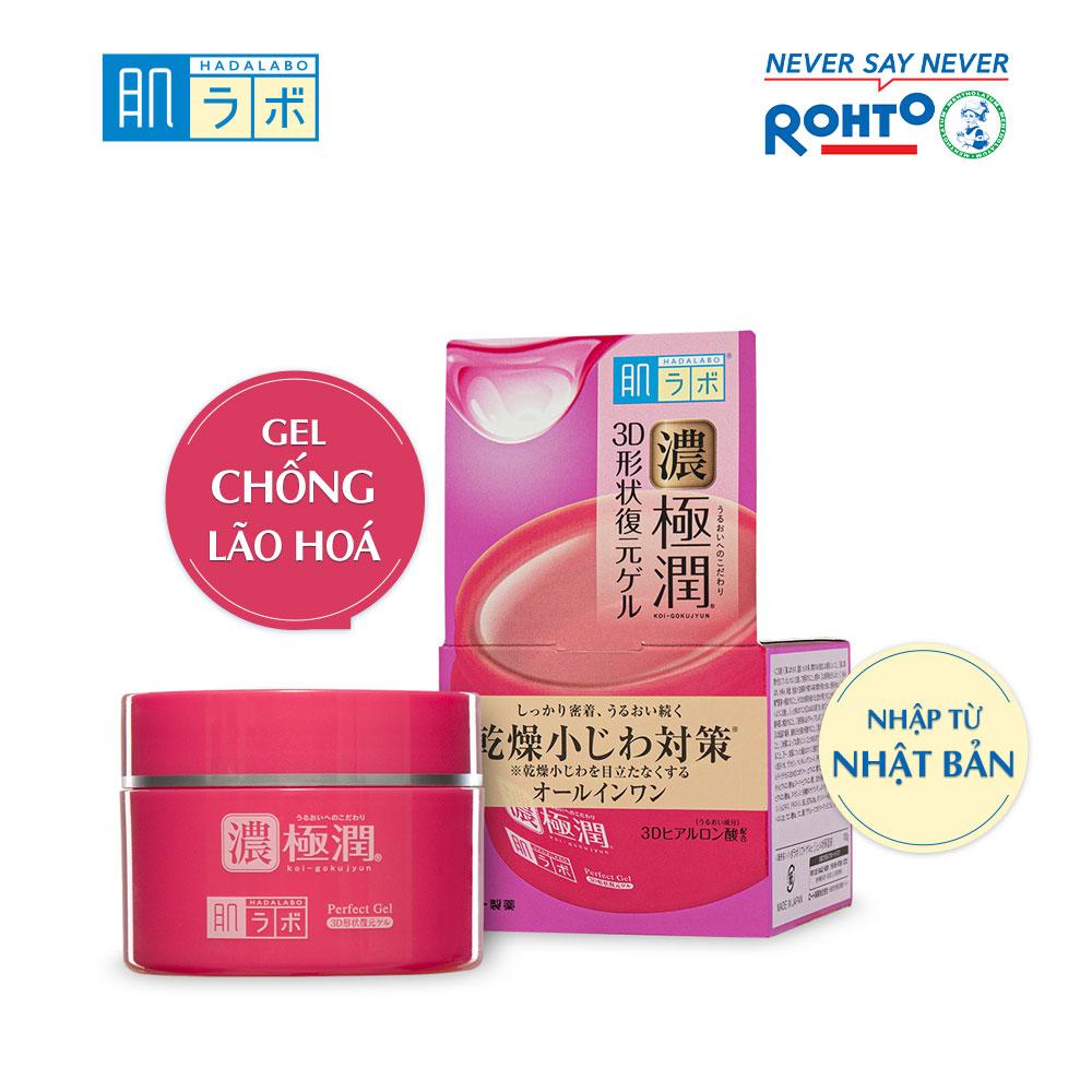 Gel dưỡng ẩm giúp làn da săn chắc Hada Labo Koi-Gokujyun 3D Perfect Gel (100G) 16 đánh giá