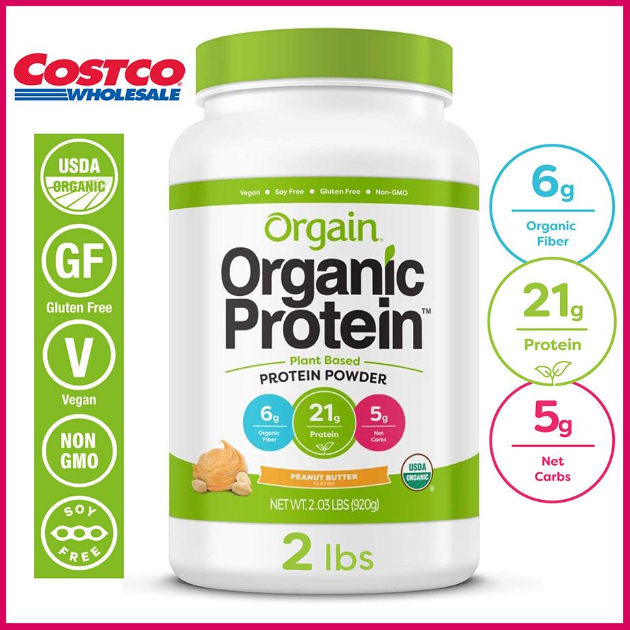 Organic Protein Orgain Bột Đạm Hữu Cơ Vani - Bơ Đậu Phộng - Chocolate, Non GMO, USA