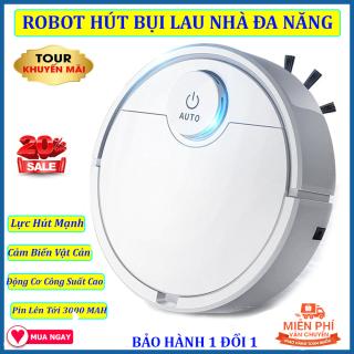 Robot Hút Bụi lau Nhà Tự Động, Máy Hút Bụi Tự Động, Robot Dọn Nhà. Tự Động Phát Hiện khi gặp các vật cản , Dễ Dàng Làm Sạch Các Vị Trí Khó Như Gầm Giường, Tủ, Vận Hành Êm Ái ko có tiếng ồn, GIẢM GIÁ SỐC NGÀY HÔM NAY thumbnail