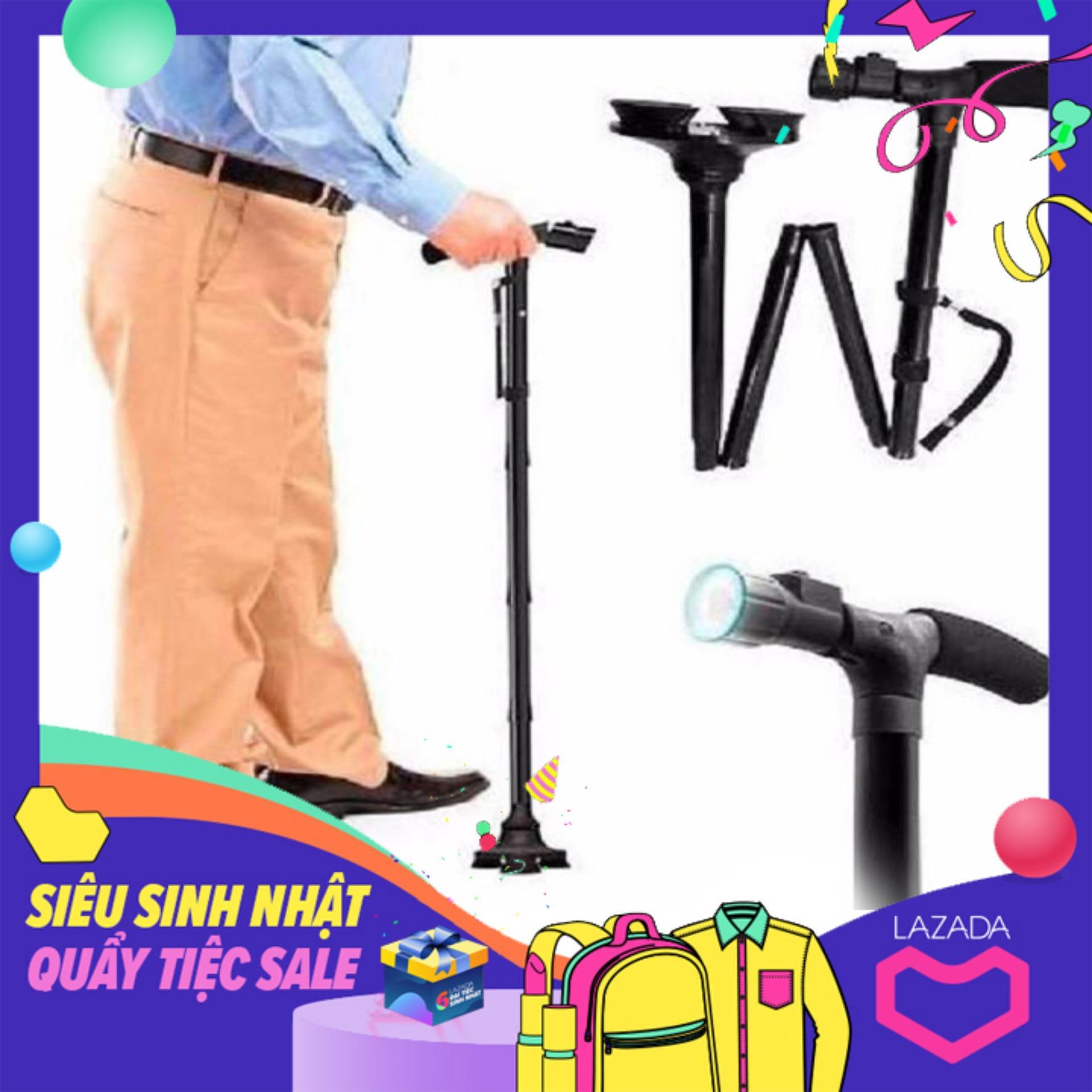 Gậy chóng trượt cho người già có đèn pin - Gậy người già