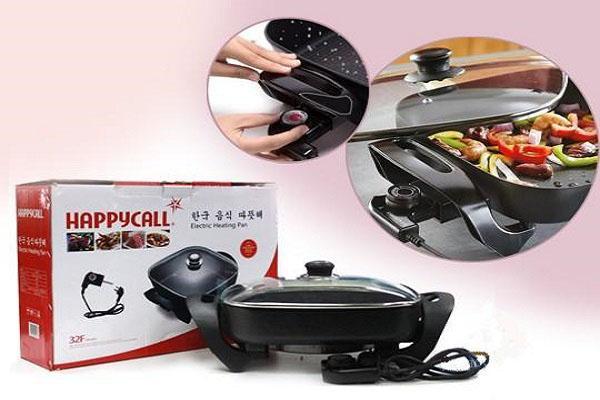 bếp lẩu, bếp lẩu nướng đa năng , Chảo điện đa năng Happy Call - N2747-1600W