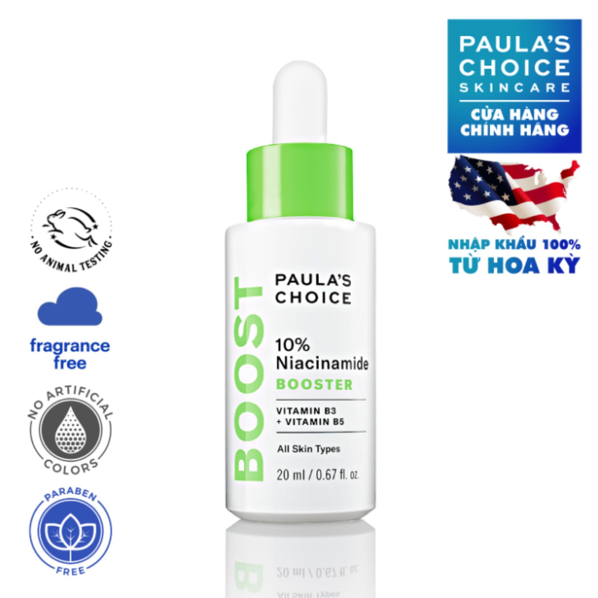 Tinh chất đặc trị se khít lỗ chân lông và làm sáng da chứa Paula's Choice 10% Niacinamide Booster nhập khẩu